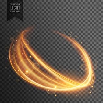Efeito de luz transparente em forma ondulada