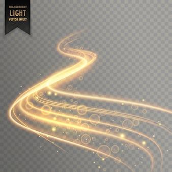 Efeito de luz transparente fundo da trilha