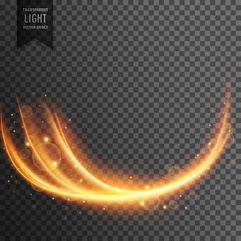 Efeito de luz transparente ondulada