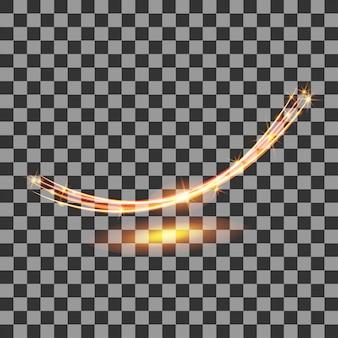 Efeito de luz transparente
