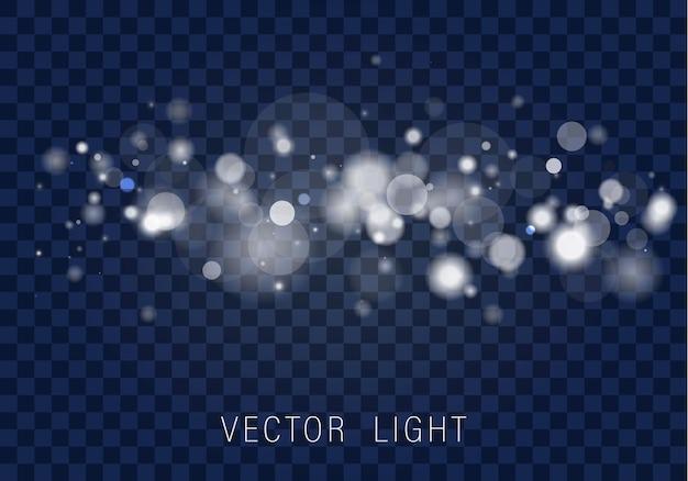 Efeito de luzes bokeh brilhantes