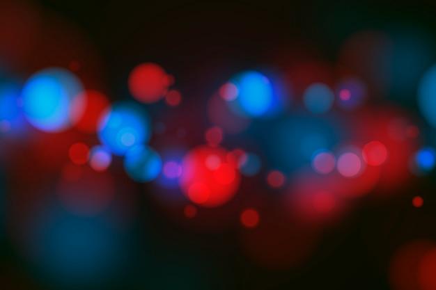 Efeito de luzes bokeh no conceito de fundo escuro