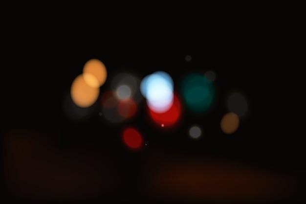Efeito de luzes bokeh no design de fundo escuro