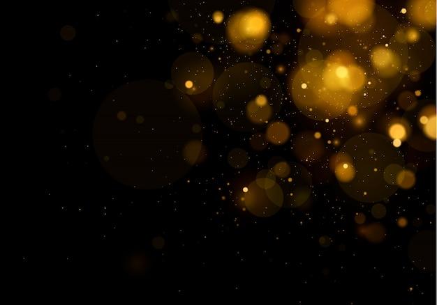 Efeito de luzes brilhantes bokeh isolado em fundo transparente.