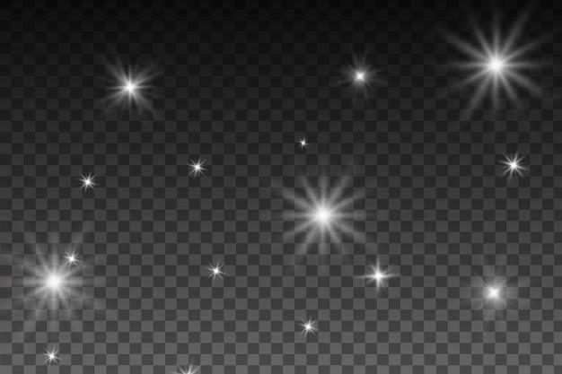 Efeito de luzes brilhantes