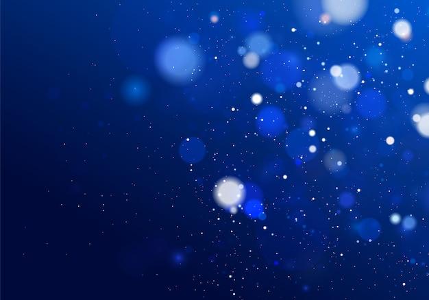 Efeito de luzes de bokeh brilhante abstrato claro isolado.