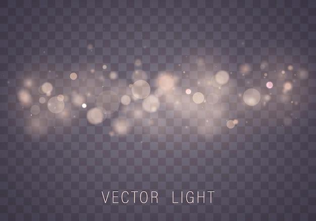 Efeito de luzes de bokeh brilhante abstrato de luz dourada
