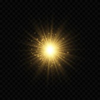 Efeito de luzes de bokeh isolado