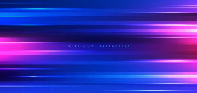 Efeito de luzes de néon de fundo de tecnologia abstrata