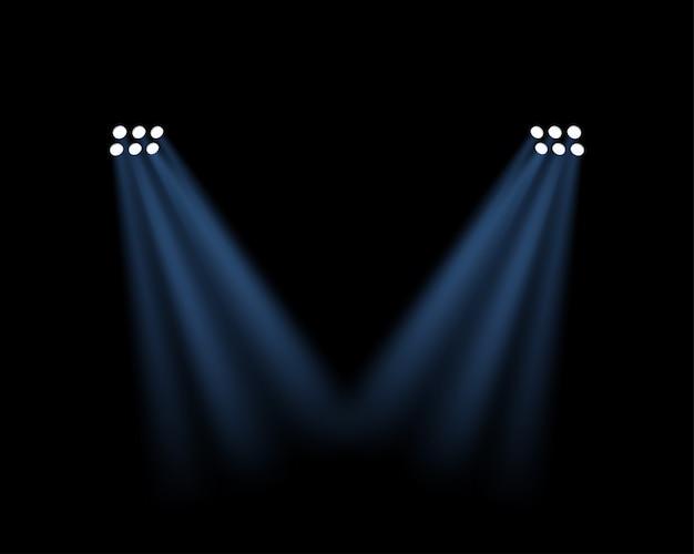 Efeito de luzes do estádio transparente