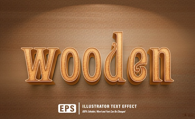 Efeito de madeira - editável