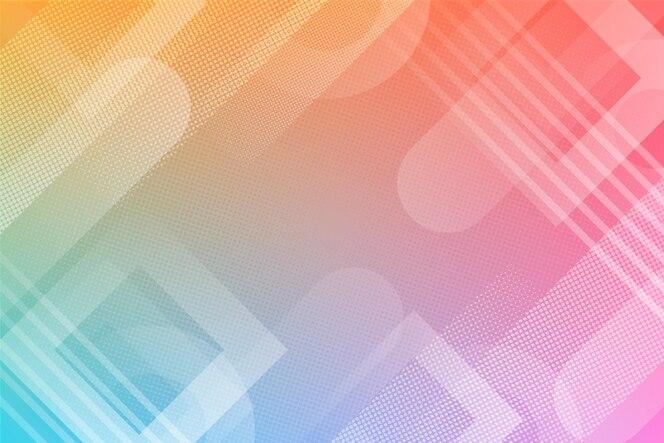 Efeito de meio-tom em fundo gradiente