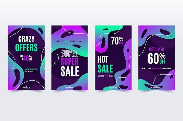 Efeito de néon líquido de mega vendas do instagram