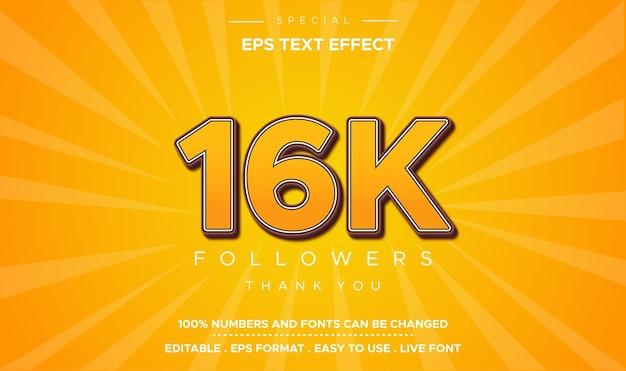 Efeito de número 16k de estilo de texto editável