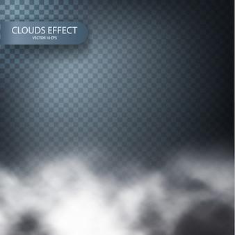 Efeito de nuvem em um fundo transparente realista