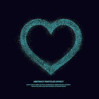 Efeito de partículas abstarct, objeto de padrão de brilho