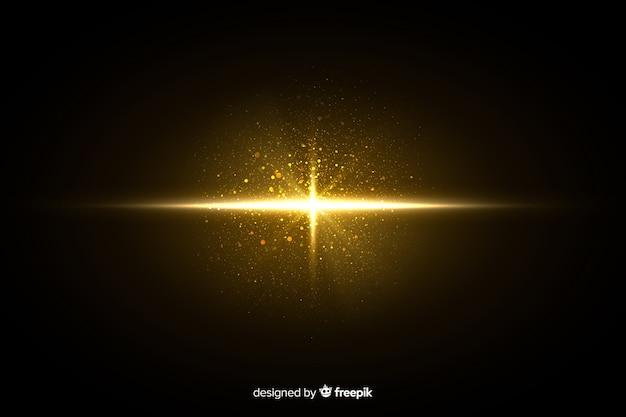 Efeito de partículas brilhantes de explosão à noite