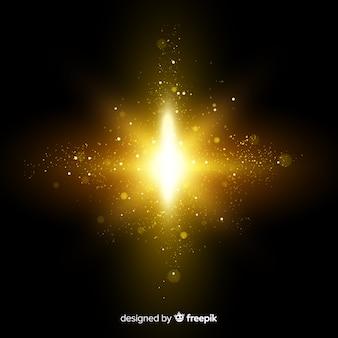 Efeito de partículas de explosão brilhante