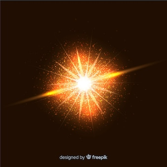 Efeito de partículas de explosão chamativo abstrata