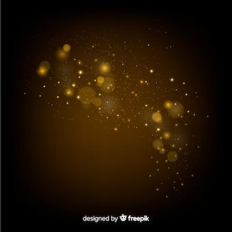 Efeito de partículas flutuantes desbotando abstrato