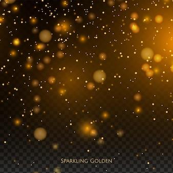 Efeito de pó de ouro cintilante brilhante.