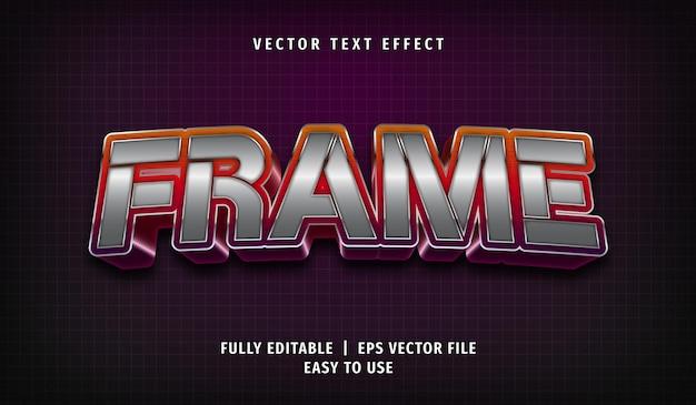 Efeito de quadro de texto, estilo de texto editável