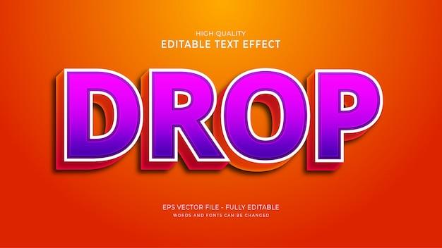 Efeito de queda de texto, efeito de estilo de texto de jogo editável