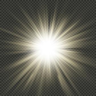Efeito de raios de explosão estelar. arquivo