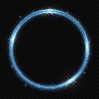 Efeito de rastreamento de luz de néon do círculo