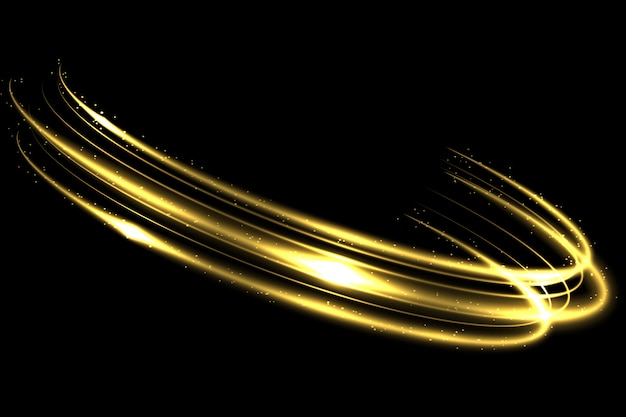 Efeito de rastreamento de luz dourada do círculo