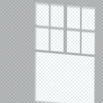Efeito de sobreposição de sombra de janela transparente