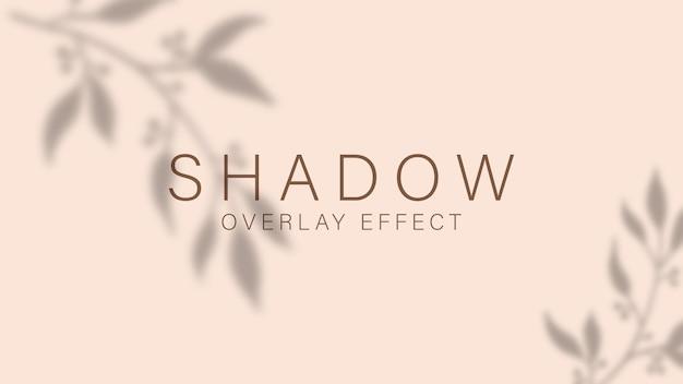 Efeito de sobreposição de sombra. luz suave e transparente e sombras de ramos, plantas, folhagens e folhas.