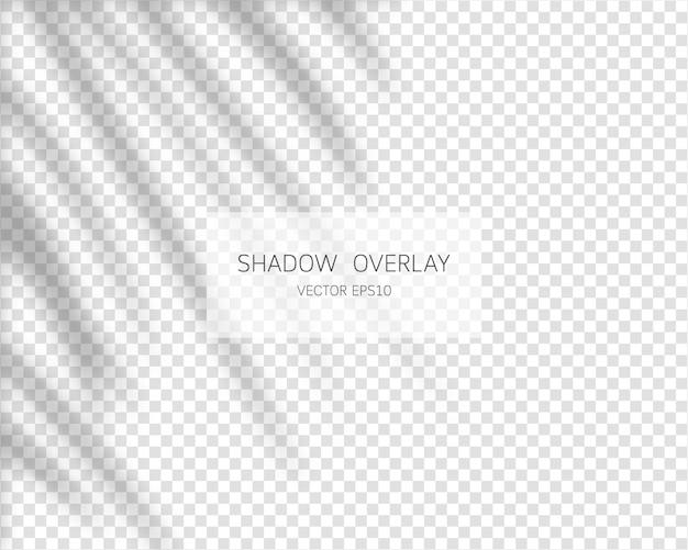 Efeito de sobreposição de sombra. sombras naturais em fundo transparente. ilustração.