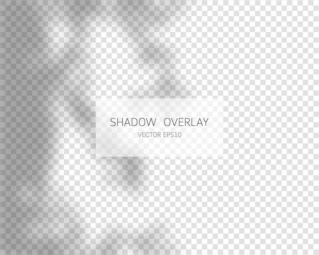 Efeito de sobreposição de sombra sombras naturais isoladas em fundo transparente. ilustração vetorial