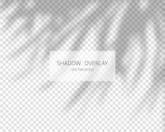 Efeito de sobreposição de sombra. sombras naturais isoladas em fundo transparente. ilustração.