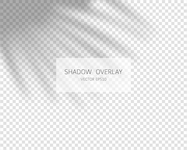 Efeito de sobreposição de sombra. sombras naturais isoladas em fundo transparente.