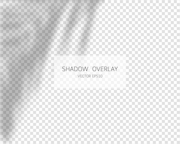 Efeito de sobreposição de sombra. sombras naturais isoladas.