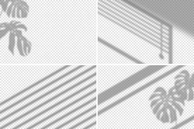 Efeito de sobreposição de sombras transparentes com detalhes