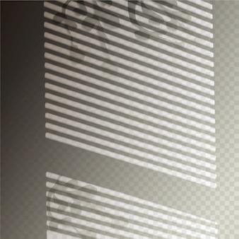 Efeito de sobreposição de sombras transparentes com persianas