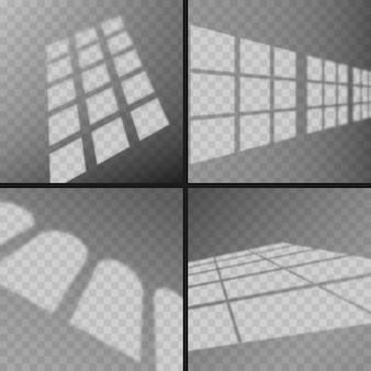 Efeito de sobreposição de sombras transparentes da janela
