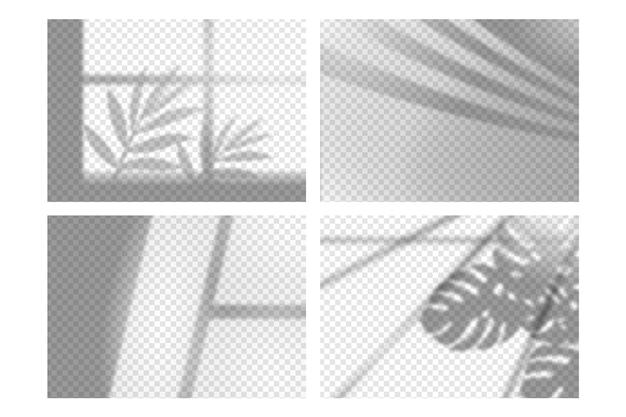 Efeito de sobreposição de sombras transparentes