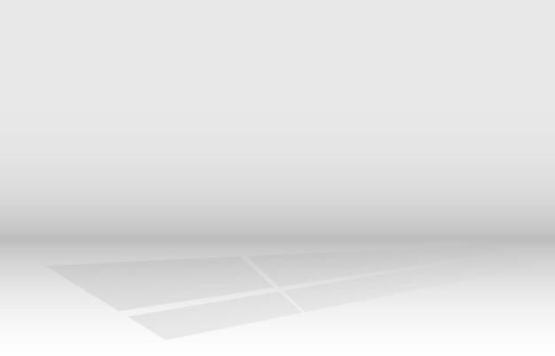 Efeito de sombra da janela em fundo transparente. ilustração vetorial