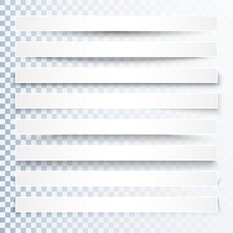 Efeito de sombras transparente 3d