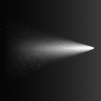 Efeito de spray de névoa isolado em fundo transparente