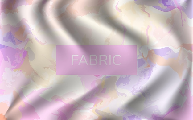 Efeito de tecido esvoaçante dobrado com textura de fundo aquarela