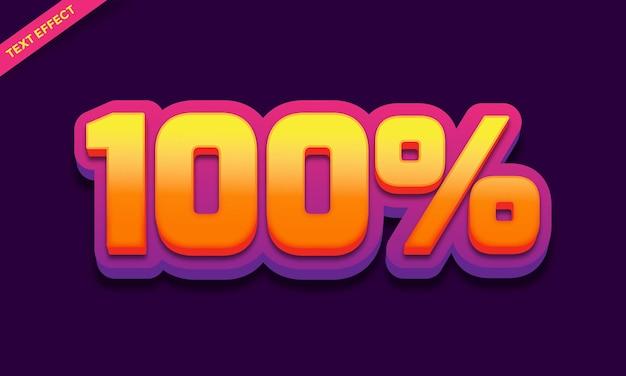Efeito de texto 100% roxo