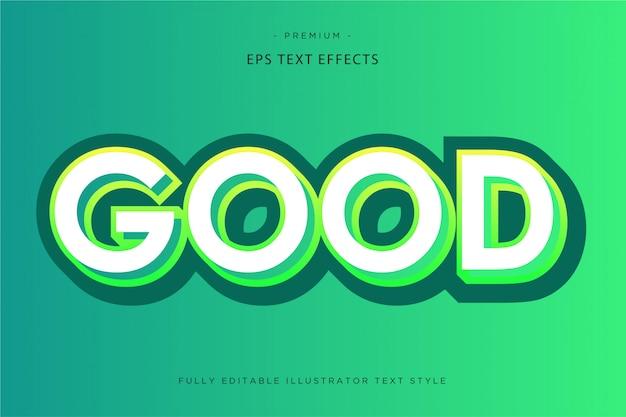 Efeito de texto 3d bom estilo de texto 3d