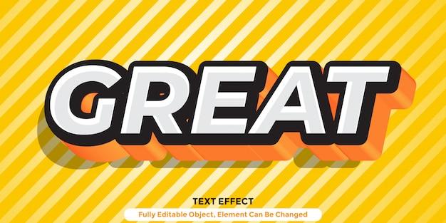 Efeito de texto 3d branco e preto