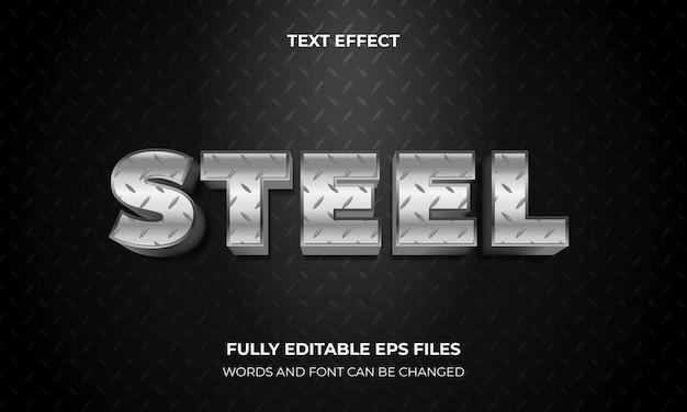 Efeito de texto 3d com estilo de metal