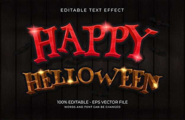 Efeito de texto 3d conceito de vetor premium de outono